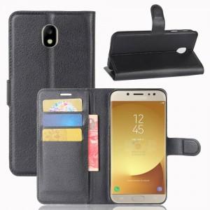 Чехол портмоне подставка на силиконовой основе на магнитной защелке для Samsung Galaxy J7 (2017)