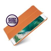 Кожаный смарт чехол книжка подставка (премиум нат. кожа) для Ipad Pro 10.5  Оранжевый