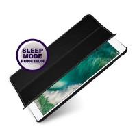 Кожаный смарт чехол книжка подставка (премиум нат. кожа) для Ipad Pro 10.5  Черный