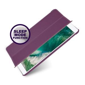Кожаный смарт чехол книжка подставка (премиум нат. кожа) для Ipad Pro 10.5 Фиолетовый