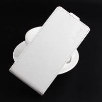 Чехол вертикальная книжка на силиконовой основе на магнитной защелке для Lenovo K6 Белый