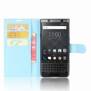 Чехол портмоне подставка на силиконовой основе на магнитной защелке для BlackBerry KEYone