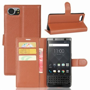 Чехол портмоне подставка на силиконовой основе на магнитной защелке для BlackBerry KEYone  Коричневый