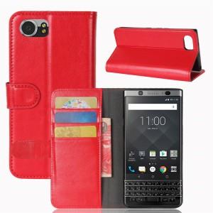 Глянцевый чехол портмоне подставка на силиконовой основе на магнитной защелке для BlackBerry KEYone Красный
