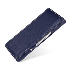 Кожаный чехол горизонтальная книжка на пластиковой основе для BlackBerry KEYone Синий