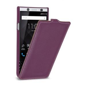 Кожаный чехол вертикальная книжка (премиум нат. кожа) для BlackBerry KEYone