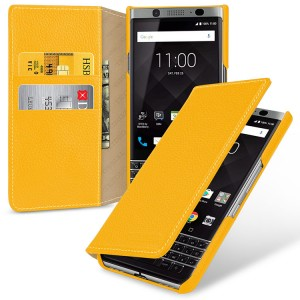 Кожаный чехол портмоне (премиум нат. кожа) для BlackBerry KEYone