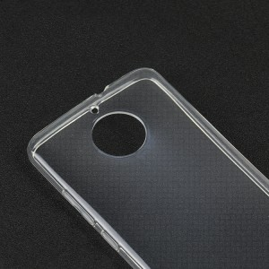 Силиконовый глянцевый транспарентный чехол для Motorola Moto E4