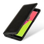 Кожаный чехол горизонтальная книжка (премиум нат. кожа) с крепежной застежкой для LG V20