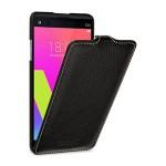 Кожаный чехол вертикальная книжка (премиум нат. кожа) для LG V20
