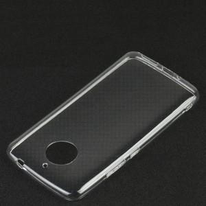 Силиконовый глянцевый транспарентный чехол для Motorola Moto E4 Plus