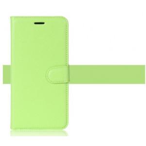 Чехол портмоне подставка на силиконовой основе на магнитной защелке для Alcatel U5 Зеленый