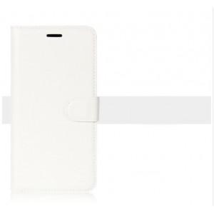 Чехол портмоне подставка на силиконовой основе на магнитной защелке для BQ Aquaris X Белый