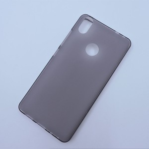Силиконовый матовый полупрозрачный чехол для BQ Aquaris X  Серый