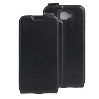 Чехол вертикальная книжка на силиконовой основе на крепежной застежке для LG K3 Черный
