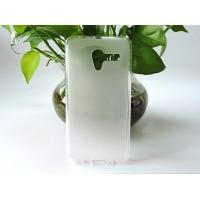 Силиконовый матовый полупрозрачный чехол для Alcatel One Touch POP 3 5  Белый