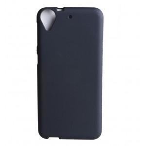 Силиконовый матовый полупрозрачный чехол для HTC Desire 650  Черный