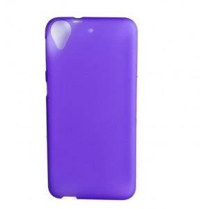 Силиконовый матовый полупрозрачный чехол для HTC Desire 650  Фиолетовый