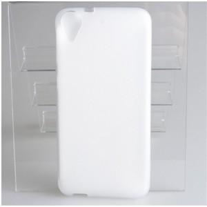 Силиконовый матовый полупрозрачный чехол для HTC Desire 650  Белый