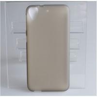 Силиконовый матовый полупрозрачный чехол для HTC Desire 650  Серый