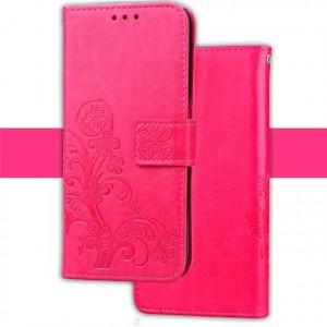 Винтажный чехол портмоне подставка текстура Цветы на силиконовой основе на магнитной защелке для ASUS ZenFone AR Розовый