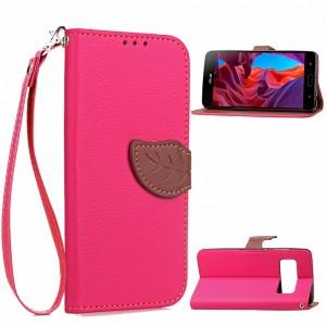 Чехол портмоне подставка на силиконовой основе на дизайнерской магнитной защелке для ASUS ZenFone AR  Розовый