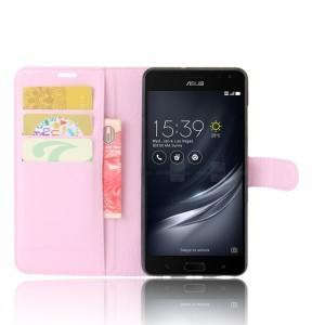 Чехол портмоне подставка на силиконовой основе на магнитной защелке для ASUS ZenFone AR  Розовый