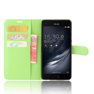 Чехол портмоне подставка на силиконовой основе на магнитной защелке для ASUS ZenFone AR  Зеленый