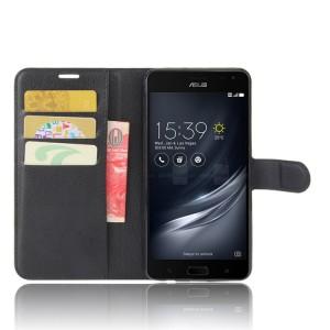 Чехол портмоне подставка на силиконовой основе на магнитной защелке для ASUS ZenFone AR  Черный