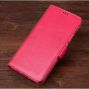 Кожаный чехол портмоне подставка (премиум нат. кожа) с крепежной застежкой для ASUS ZenFone AR Розовый