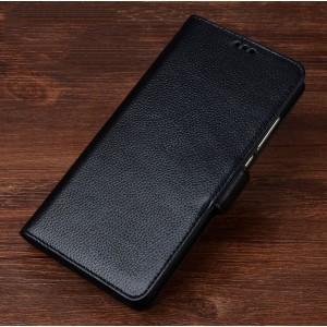 Кожаный чехол портмоне подставка (премиум нат. кожа) с крепежной застежкой для ASUS ZenFone AR Черный