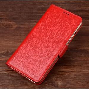 Кожаный чехол портмоне подставка (премиум нат. кожа) с крепежной застежкой для ASUS ZenFone AR Красный