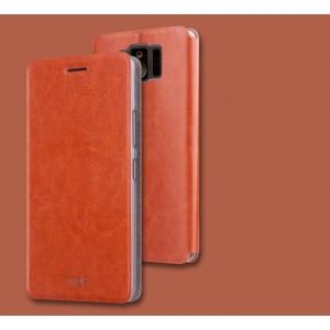 Чехол горизонтальная книжка подставка на силиконовой основе для ASUS ZenFone AR Коричневый