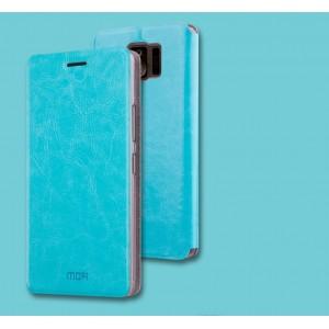 Чехол горизонтальная книжка подставка на силиконовой основе для ASUS ZenFone AR Голубой