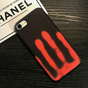 Эксклюзивный термосенсорный силиконовый матовый непрозрачный чехол для Iphone 7/8 Черный