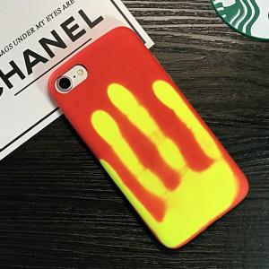 Эксклюзивный термосенсорный силиконовый матовый непрозрачный чехол для Iphone 7/8 Красный