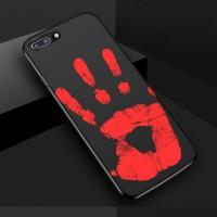 Эксклюзивный термосенсорный силиконовый матовый непрозрачный чехол для Iphone 7 Plus/8 Plus Черный