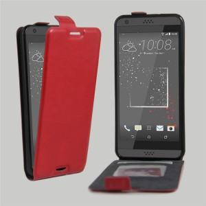 Чехол вертикальная книжка на силиконовой основе с отсеком для карт на магнитной защелке для HTC Desire 530/630