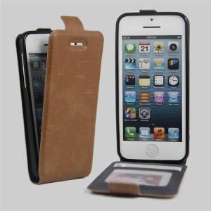 Чехол вертикальная книжка на силиконовой основе с отсеком для карт на магнитной защелке для Iphone 5c