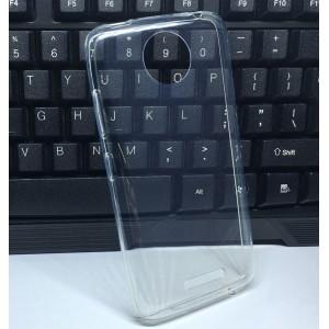 Силиконовый глянцевый транспарентный чехол для Motorola Moto C Plus