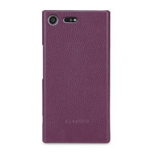 Кожаный чехол накладка (премиум нат. кожа) для Sony Xperia XZ Premium
