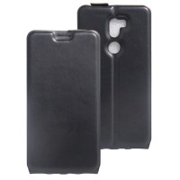 Чехол вертикальная книжка на силиконовой основе на магнитной защелке для Xiaomi Mi5S Plus Черный