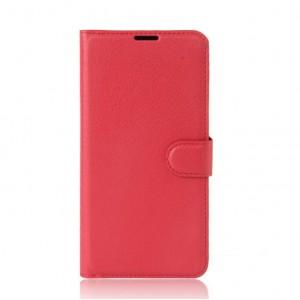 Чехол портмоне подставка на силиконовой основе на магнитной защелке для Alcatel A3  Красный