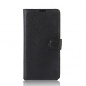 Чехол портмоне подставка на силиконовой основе на магнитной защелке для Alcatel A3  Черный