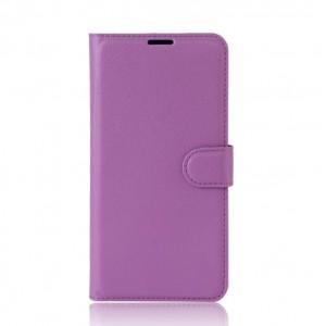 Чехол горизонтальная книжка подставка на силиконовой основе с отсеком для карт на магнитной защелке для Alcatel A3 XL Фиолетовый