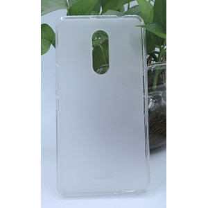 Силиконовый матовый полупрозрачный чехол для Alcatel A3 XL Белый