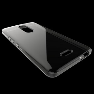 Силиконовый глянцевый транспарентный чехол для Alcatel A3 XL