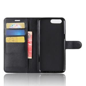 Чехол портмоне подставка на силиконовой основе с отсеком для карт на магнитной защелке для Asus ZenFone 4 Max  Черный