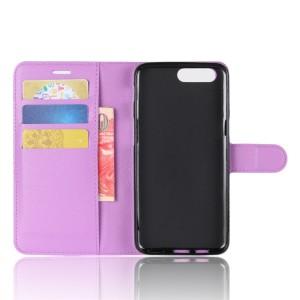 Чехол портмоне подставка на силиконовой основе с отсеком для карт на магнитной защелке для Asus ZenFone 4 Max  Фиолетовый