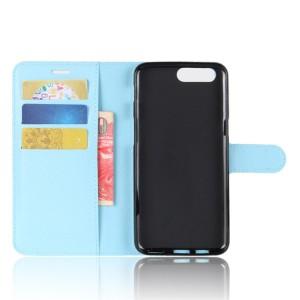 Чехол портмоне подставка на силиконовой основе с отсеком для карт на магнитной защелке для Asus ZenFone 4 Max  Голубой